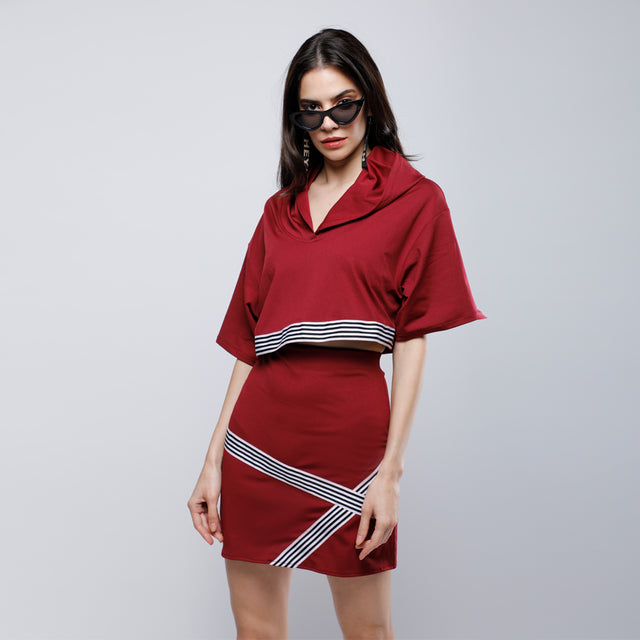 BURGUNDY SASHA CO-ORD SET