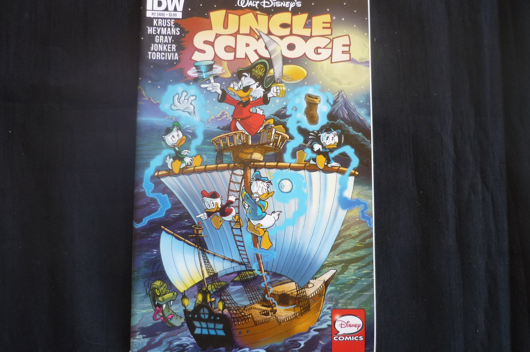 Uncle Scrooge 2  Reg Cover  (b6) IDW 2015 Near Mint Walt Disney