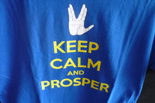Star trek keep Calm and Prosper Spock Royal Blue mens size Small Licensed T-shirt