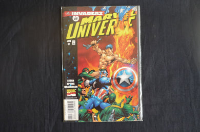 Invaders in the MArvel Universe 1 Near Mint Condition    (b13) MArvel 1998 Captain America