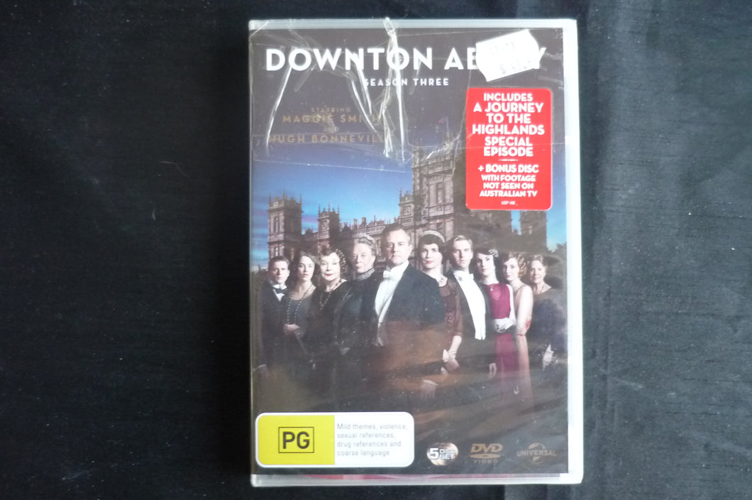 Downton Abbey Series 3 DVD regions 2 4 and 5 PAL