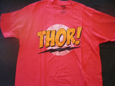 Thor Thor! Mens size Medium Red  Licensed Tee. T-shirt