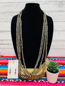 "43"" Navajo Pearl Necklace Set"