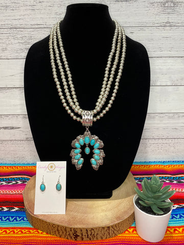 Squash Blossom and Bead Necklace Set