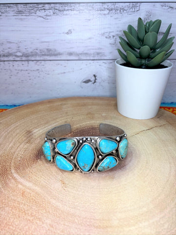 Turquoise Multi Stone Chunky Cuff