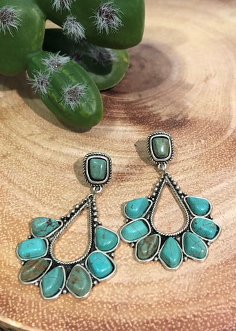 Turquoise Blossom Earrings