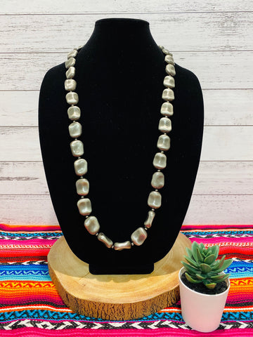 "34"" Large Navajo Pearl Necklace"