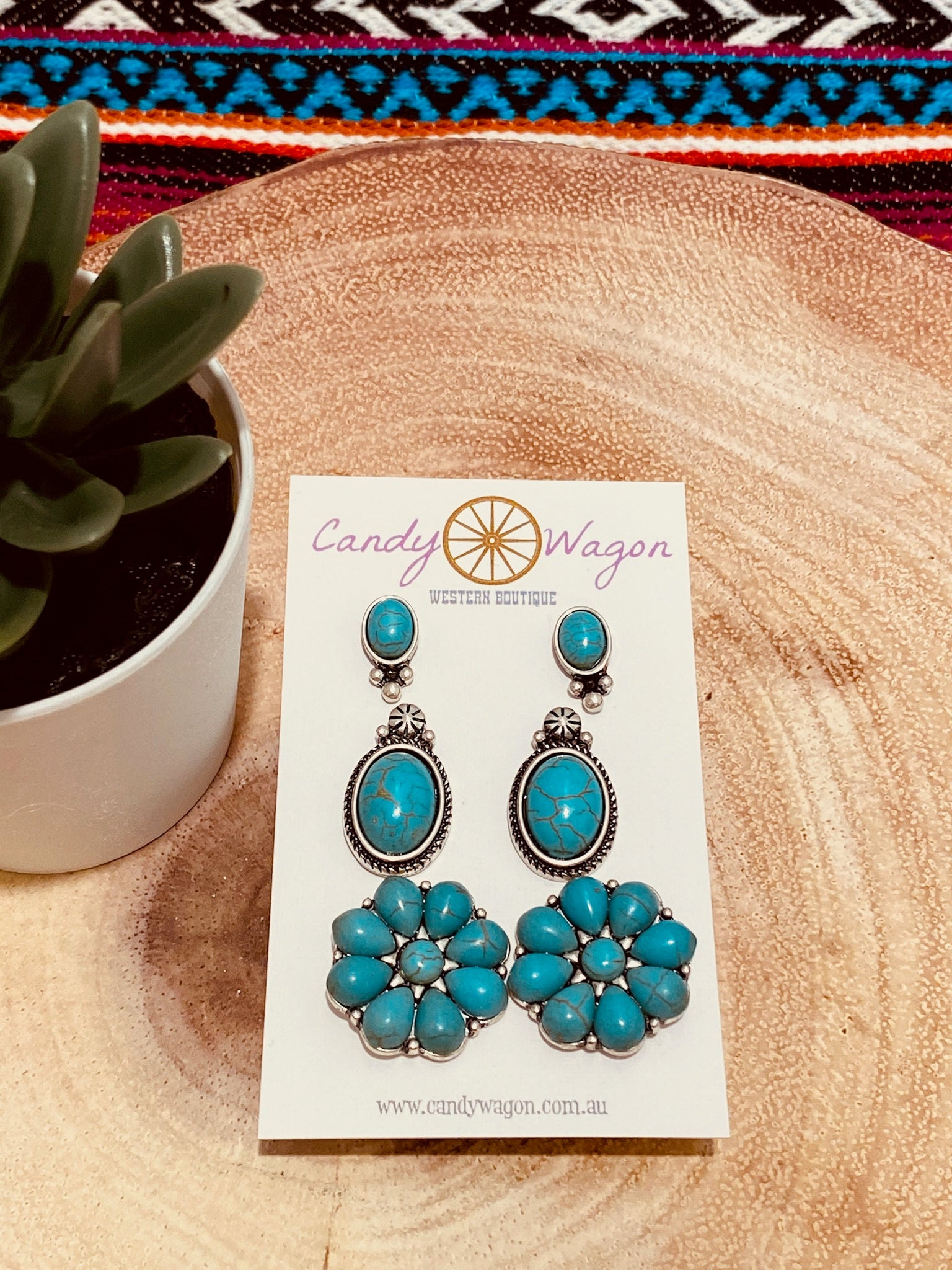 3 Piece Stud Earring Set
