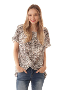 Animal Print Twist Top