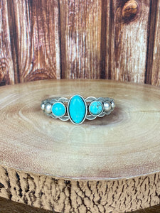3 Stone Turquoise Cuff