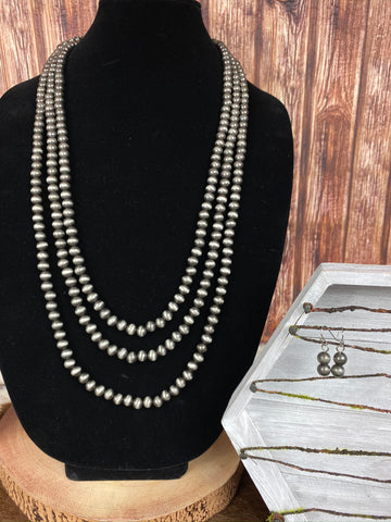 "32"" Navajo Pearl Necklace"