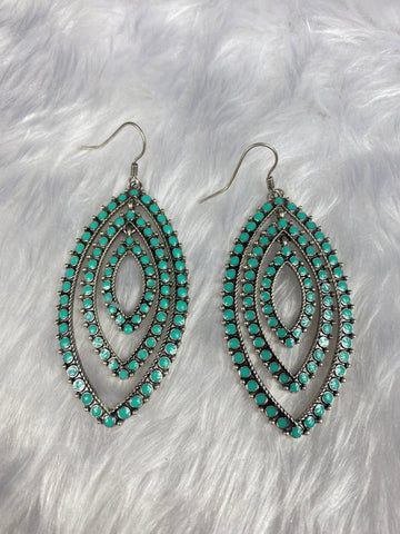 Multi Teardrop Turquoise Earrings