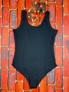 Black Scoop Bodysuit