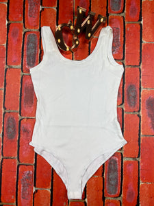 White Scoop Bodysuit