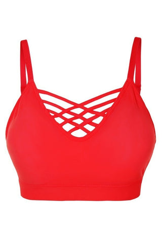 Lattice Bralette - Ruby