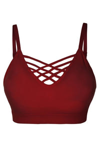 Lattice Bralette - Burgundy