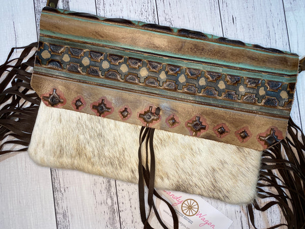 Hair on Hide Navajo Leather Clutch