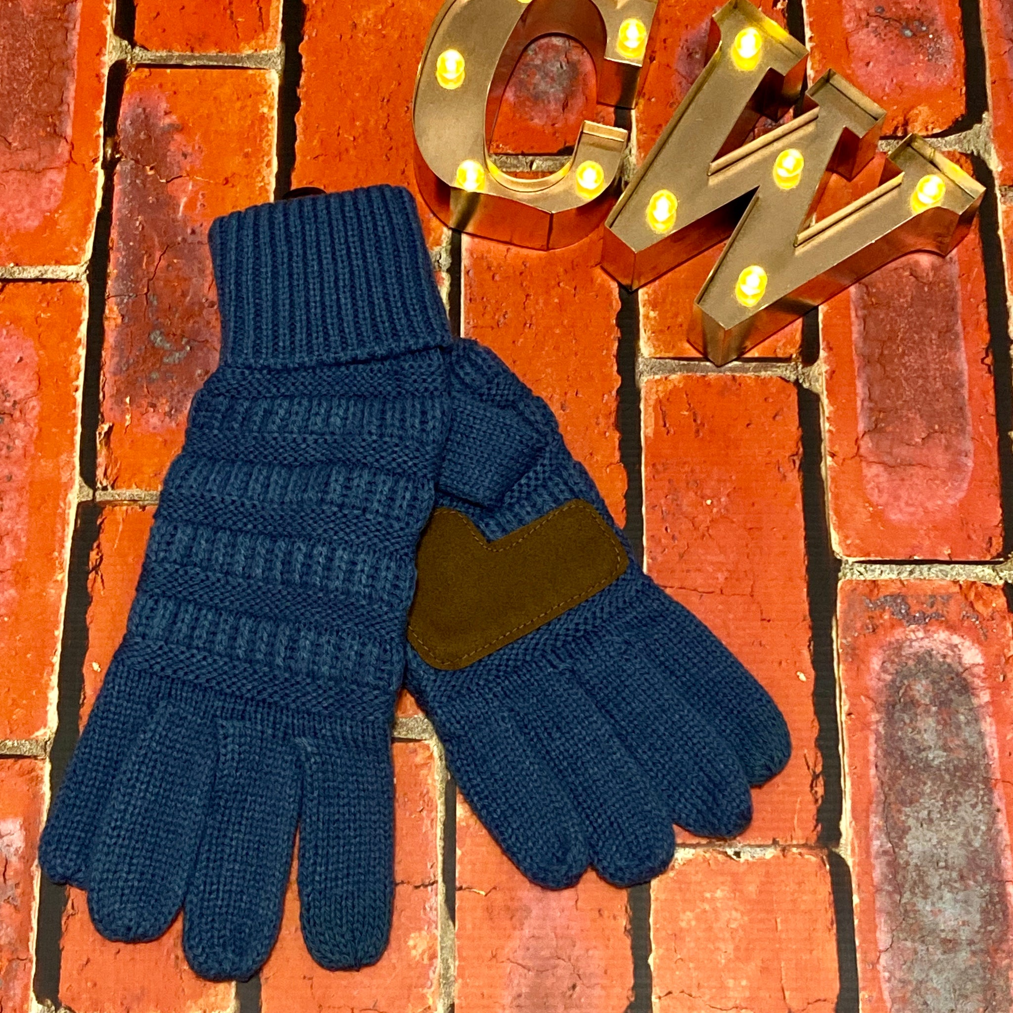 C.C Smart Tip Gloves - Denim Blue