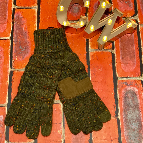 C.C Smart Tip Gloves - Olive Confetti