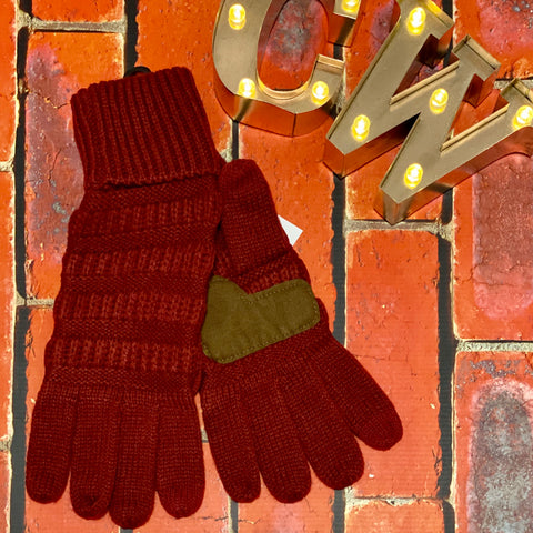 C.C Smart Tip Gloves - Burgundy
