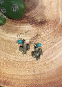 Silver Cactus Earrings