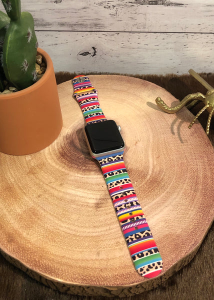 Serape and Leopard Watchband