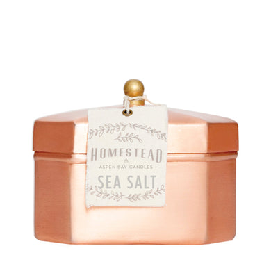ASPEN BAY CANDLES Sea Salt Octagon Tea Tin