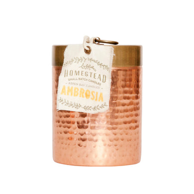 ASPEN BAY CANDLES Ambrosia Hammered Canister Candle