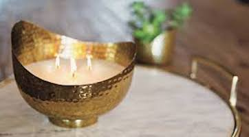 ASPEN BAY CANDLES Pomelo Tonic Copper Wave Bowl Scented Candle