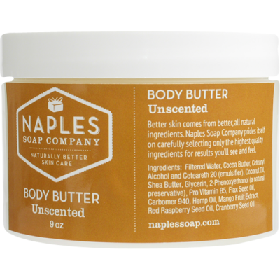 NAPLES SOAP COMPANY Unscented Body Butter
