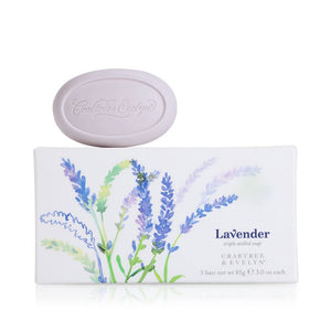 CRABTREE & EVELYN Lavender Triple Milled Soap Set