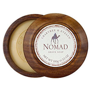CRABTREE & EVELYN Nomad Shave Soap In Wooden Bowl