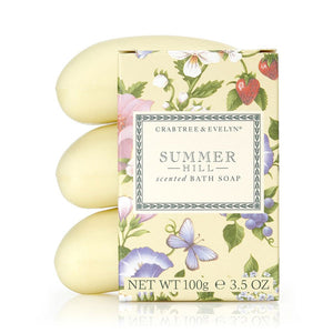 CRABTREE & EVELYN Summer Hill Triple Milled Soap Set
