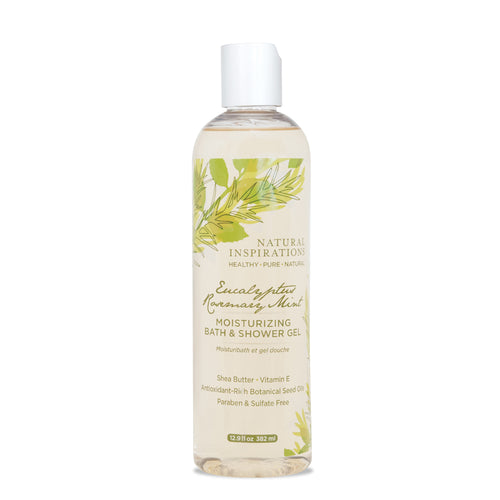NATURAL INSPIRATIONS Eucalyptus Rosemary Mint Bath & Shower Gel