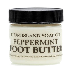 PLUM ISLAND SOAP COMPANY Peppermint Foot Butter