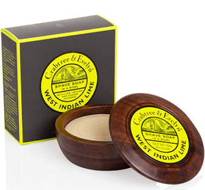 Crabtree&Evelyn West Indian Lime Shave Soap in a Bowl