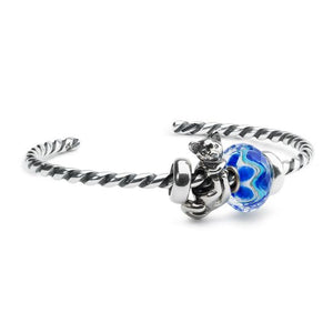 Trollbeads Twisted Silver Bangle XS