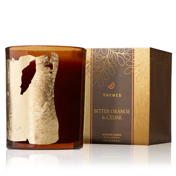 THYMES Bitter Orange & Cedar Candle