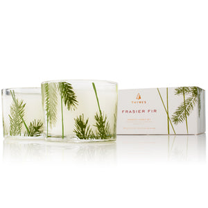 THYMES Frasier Fir Pine Needle Candle Set