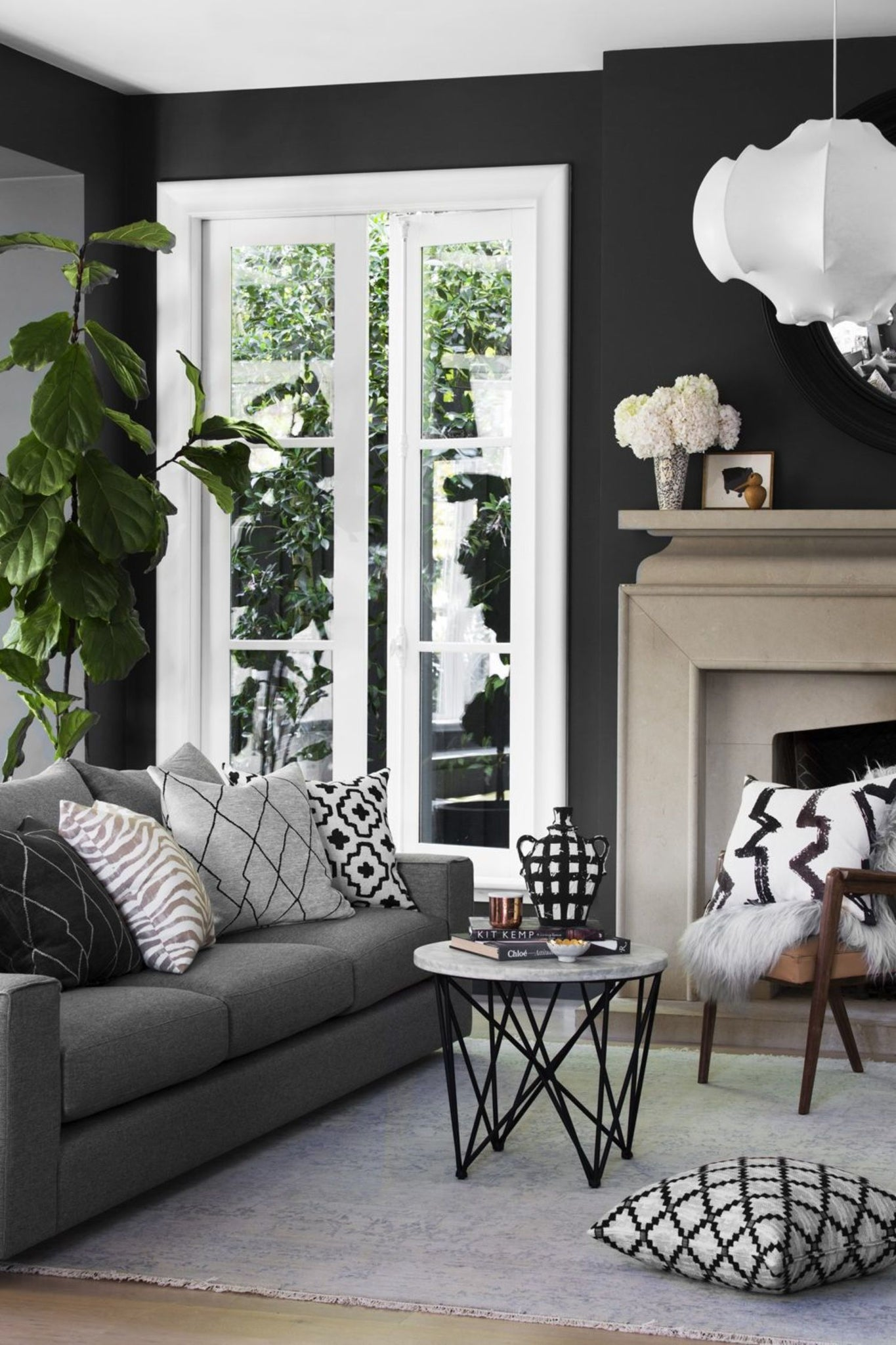 Dark Wall - Black Wall Paint - Interiors - Corinne Melanie Co