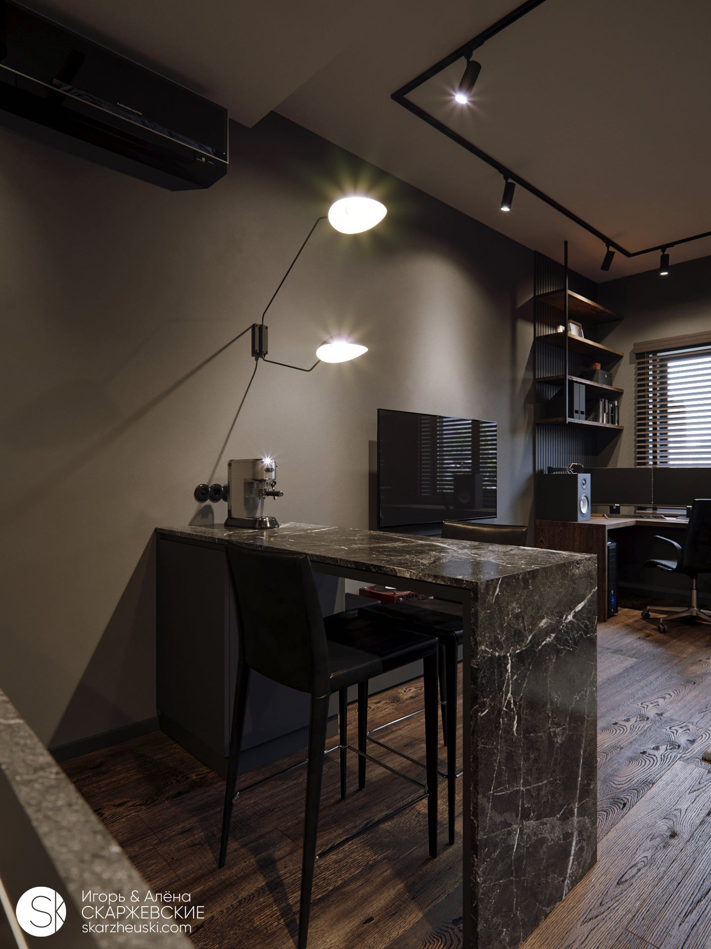 Dark Wall - Brown Wall Paint - Interiors - Corinne Melanie Co