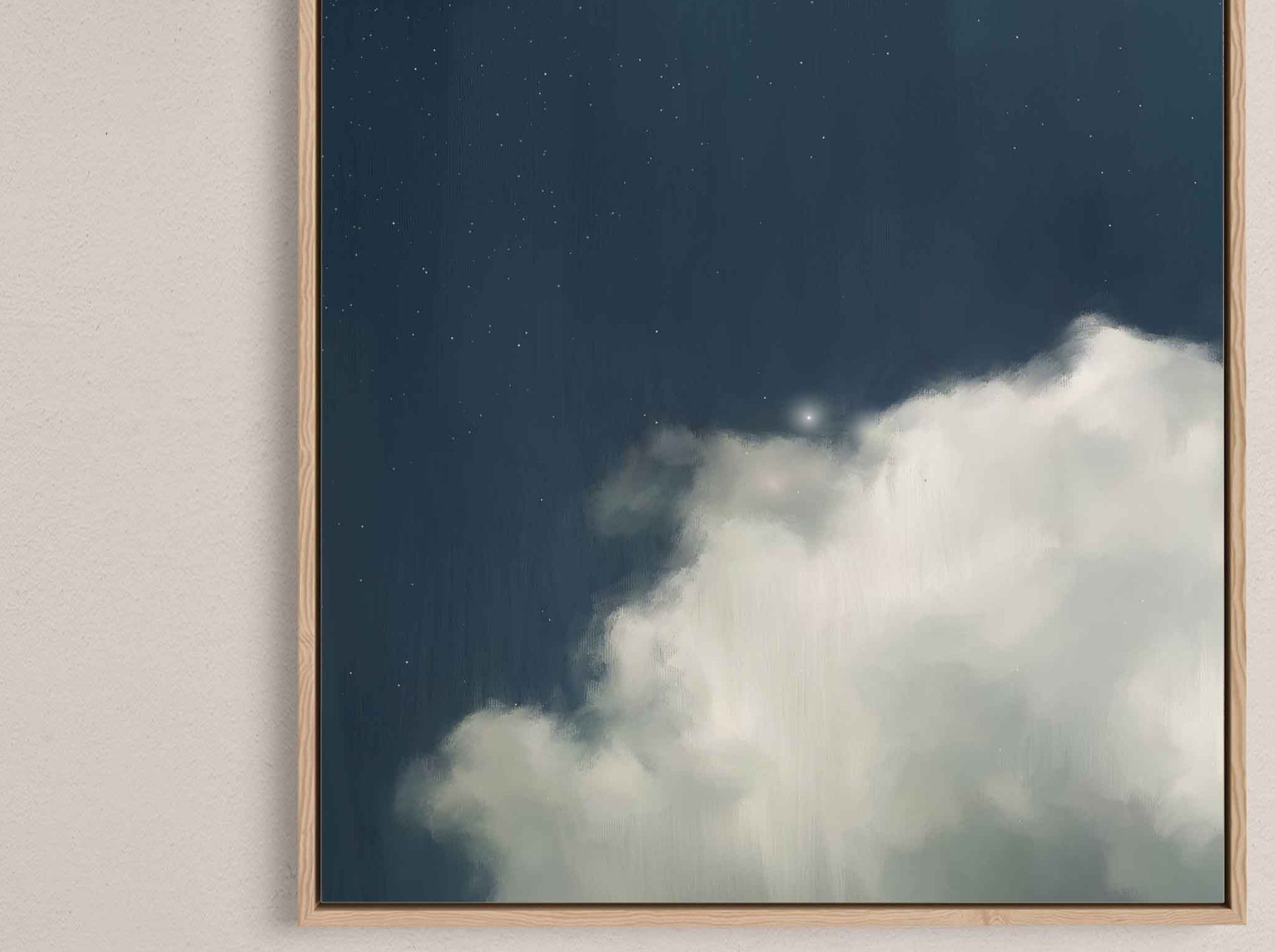 """Cumulus II"" (Portrait Version) on Canvas"