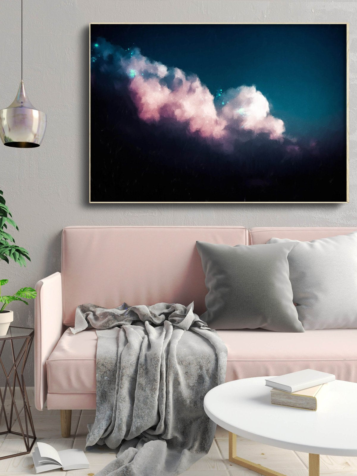 """Intrépide No. 8"" Original Cloud Painting 