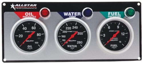 AUTOMETER 3 GAUGE PANEL SET