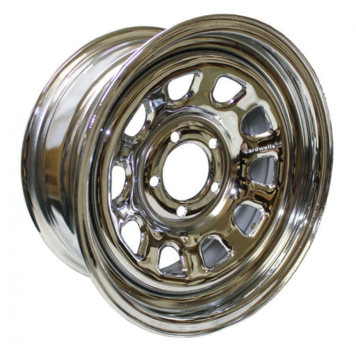 MINISTOCK WELDED WHEEL 13 X 5 DAYTONA CHROME
