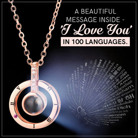 Magical 'I Love You' In 100 Languages Necklace