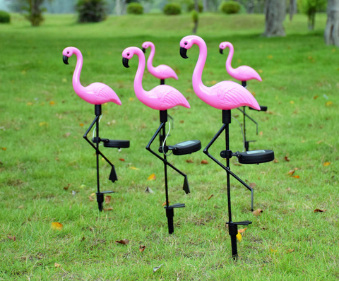 FlickeringWorld™ Flamingo Solar LED Garden Lamps