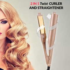 2-in-1 Twist Curler & Straightener