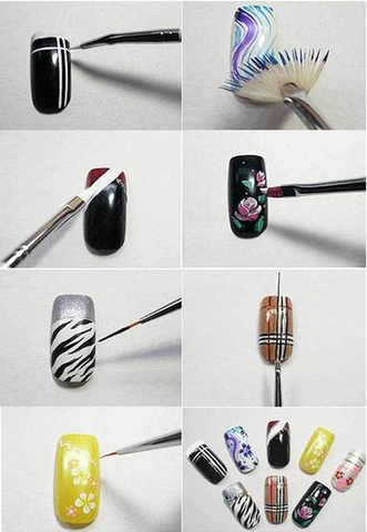 15 Pieces Nail Art Brushes Set