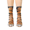 Image of Animal Paw Crew Socks - real animal paws look-alike